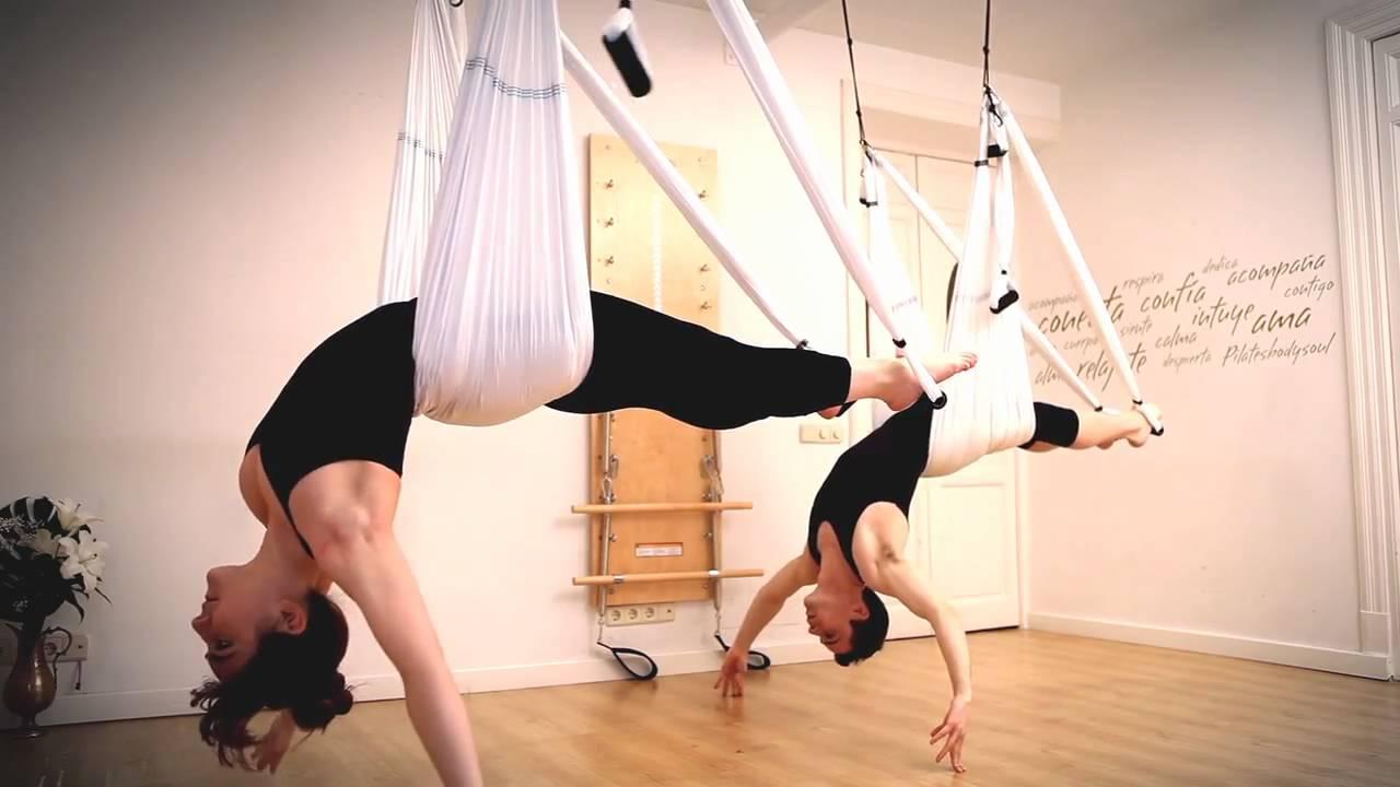 El aeroyoga es una actividad súper versátil que pueden practicarla todo tipo de personas