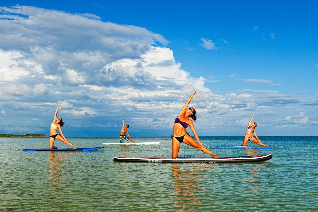 El Sup Yoga o paddle yoga