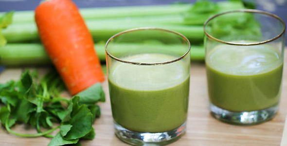 Batido de apio, zanahoria y espinaca para lograr controlar la diabetes tipo 2