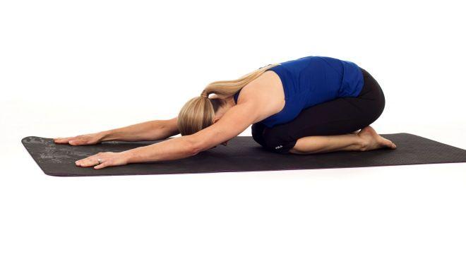 Ejercicio de Yoga - El niño