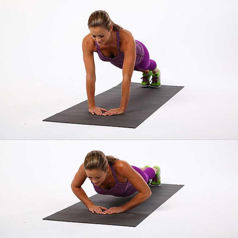 Flexiones de brazo en triangulo